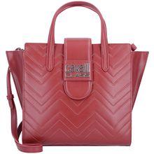 Roberto Cavalli Class Alisa Handtasche Leder 25 cm rot Damen