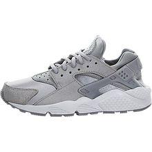 Nike Damen W Air Huarache Run Prm Suede Turnschuhe, Grau (Medium Grey/Off White), 36 1/2 EU