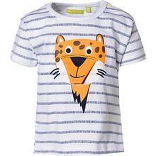 Baby T-Shirt mit Applikation zum aufklappen  weiß Jungen Baby