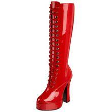 Pleaser ELECTRA-2020, Damen Langschaft Stiefel, Rot (Rot (Red Pat)), 40 EU (7 Damen UK)