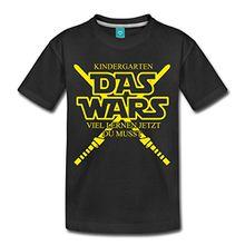 Spreadshirt Kindergarten Das Wars Lernen Du Musst Kinder Premium T-Shirt, 134/140 (8 Jahre), Schwarz