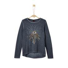 S.Oliver Junior Shirt nachtblau / goldgelb / schwarz / silber
