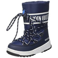 Moon Boot Unisex-Kinder We Sport Jr WP Schneestiefel, Blu (Blu Navy/Bianco), 27 EU