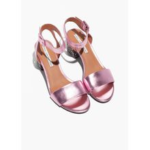 Leather Metallic Sandalette - Purple