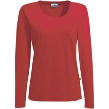 "HAKRO Damen Langarm T-Shirt ""Classic"" - 178 - rot - Größe: M"