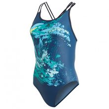 adidas - Women's Fit Suit Parley - Badeanzug Gr 34;38 lila/blau;blau/türkis