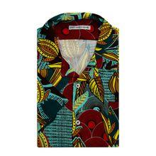 Slim Fit Freizeithemd aus Viskose mit kurzem Arm Modell 'Camicia'