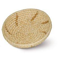 Schalenkorb rund, hellbraun, Ø 30cm x H 8cm