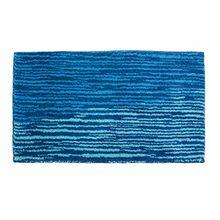 Schöner Wohnen Kollektion Mauritius, Badteppich, Badematte, Badvorleger, Design Streifen - blau, Oeko-Tex 100 zertifiziert, 60 x 60 cm