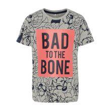 NAME IT T-Shirt 'Looney Tunes ' grau / lachs / schwarz