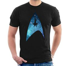 Star Trek Galaxy Silhouette Star Fleet Logo Men's T-Shirt