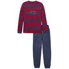 Schiesser Jungen Zweiteiliger Schlafanzug Anzug Lang, Blau (Dunkelblau 803), 140