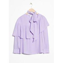 Frill Blouse - Purple