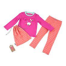Sigikid Mädchen Zweiteiliger Schlafanzug Pyjama, Mini, Rosa (Shocking Pink 682), 104