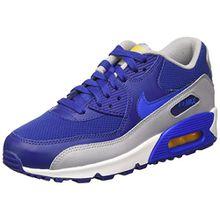 Nike Unisex-Kinder Air Max 90 Mesh GS Sneakers, Azul (DP RYL Blue/Hypr CBLT-Vrsty MZ), 38.5 EU