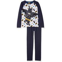 Lego BATMAN Jungen Zweiteiliger Schlafanzug 161994, Bleu (Bleu), 10 Jahre