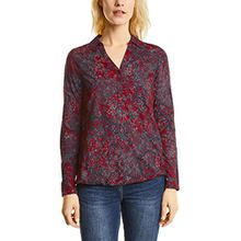 Cecil Damen Bluse 340738, Rot (Cranberry Red 31088), Small
