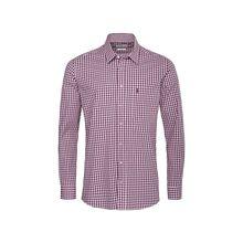 Almsach Trachtenhemd Langarmhemden aubergine Herren
