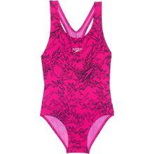 SPEEDO Kinder Badeanzug 'BOOM' pink / schwarz