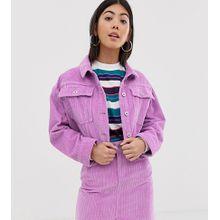 COLLUSION Petite - Kurz geschnittene Jeansjacke aus Cord - Violett