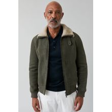 CLOSED Shearling Aviator Jacket olive nights