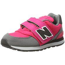 New Balance Unisex-Kinder Sneaker, Mehrfarbig (Pink/Grey), 33.5 EU (1.5 UK)