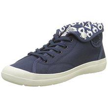 Palladium Damen Aventure Canvas Hohe Sneaker, Blau (Mood Indigo/Marshmaollow M09), 38 EU