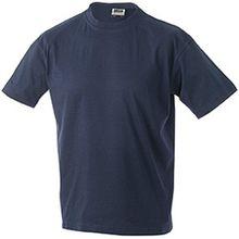 JN019 Junior Basic-T Kinder Komfort-T-Shirt aus hochwertigem Single-Jersey, Größe:XXL;Farbe:Navy