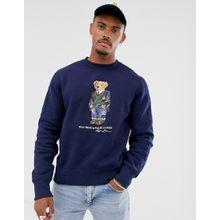 Polo Ralph Lauren - Marineblaues Sweatshirt mit Bären-Print - Navy