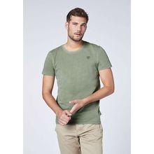 CHIEMSEE T-Shirt aus GOTS-zertifizierter Bio-Baumwolle dunkelgrün Herren
