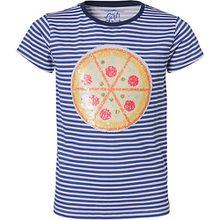 T-Shirt mit Wendepailletten  blau Mädchen Kinder