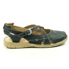 Josef Seibel 66901-95 Amanda 01 Schuhe Damen Sandalen, Schuhgröße:39;Farbe:Blau
