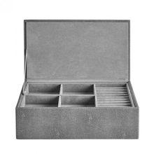 Schmuckbox mit Deckel Stingray, anthrazit