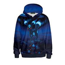 Ecollection® Damen Unisex 3 Digital Print Fashion Hoodies Sweatshirts Tops (S /M, 3)