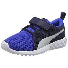 Puma Unisex-Kinder Carson 2 V PS Sneaker, Blau (Turkish Sea-Gray Violet), 30 EU