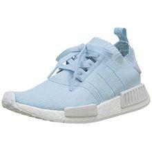 adidas Damen NMD_R1 Primeknit Sneaker, Blau (Ice Blue/Ice Blue/Footwear White), 38 2/3 EU