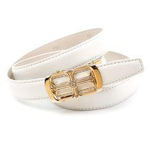 Anthoni Crown Ledergürtel Automatik Ledergürtel weiß Damen