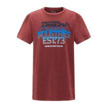 Petrol Industries T-Shirt nachtblau / himmelblau / hellblau / pastellrot