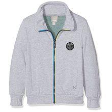 Bench Jungen Sweatshirt Zip Thro Funnel Sweat, Grau (Summer Grey Marl MA1026), 152 (Herstellergröße: 11-12)