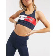 Tommy Sport – Sport-BH mit mittelstarkem Halt und Logo, in Knallrot