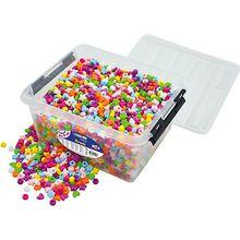 Kunststoffperlen in Box, 3.600 Stück