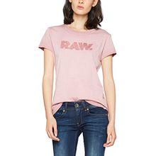 G-STAR RAW Damen T-Shirt Epzin Straight R T Wmn S/s, Violett (Dk Berry Mist 8145), X-Small