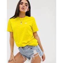 adidas Originals – Essential – Gelbes T-Shirt mit kleinem Logo