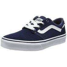 Vans Unisex-Kinder Chapman Stripe Sneaker, Blau (Suede/Canvas), 34.5 EU