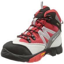 alpina 680245, Unisex-Kinder Trekking- & Wanderstiefel, Rot (rot/grau), 28 EU