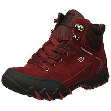 Allrounder by Mephisto NIGATA-Tex Rubber 1/O.Suede 48, Damen Kurzschaft Stiefel, Rot (Black/Mid Red), 42 EU (8 Damen UK)