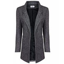 ONLY Damen Sweat Blazer, Farbe:dunkelgrau;Größe:M