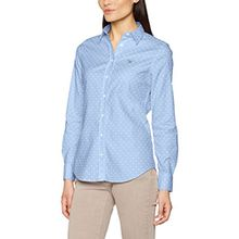 GANT Damen Hemd Stretch Oxford Printed Dot Shirt, Blau (Sky Blue), 10 (Herstellergröße: 36)