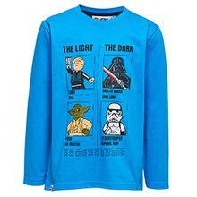 Lego Wear Jungen Langarmshirt Star Wars M-72365, Blau (Blue 538), Gr.140