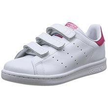 adidas Originals Stan Smith CF, Unisex-Kinder Sneakers, Weiß (FTWR White/FTWR White/Bold Pink), 34 EU (2 Kinder UK)
